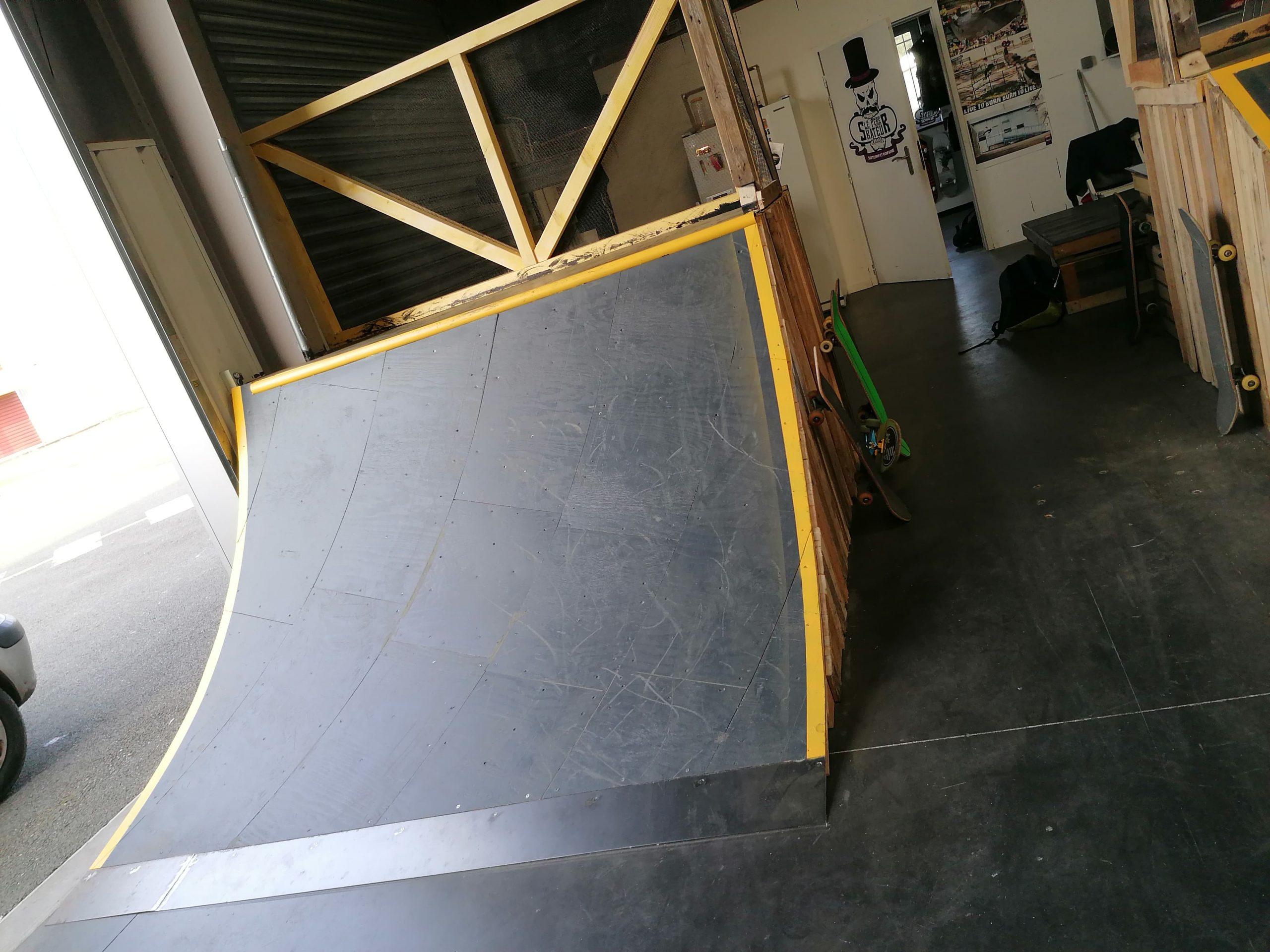 skatepark couvert le barp, gironde